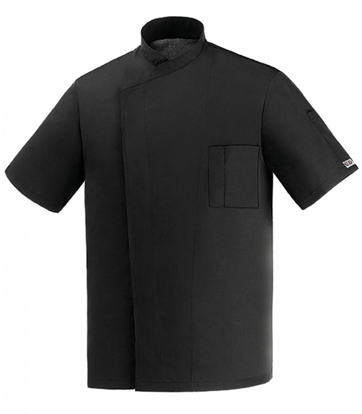 μπλούζα μάγειρα μάυρη egochef microfiber