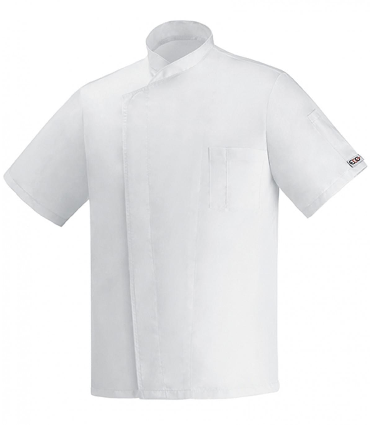 μπλούζα μάγειρα λευκή egochef microfiber