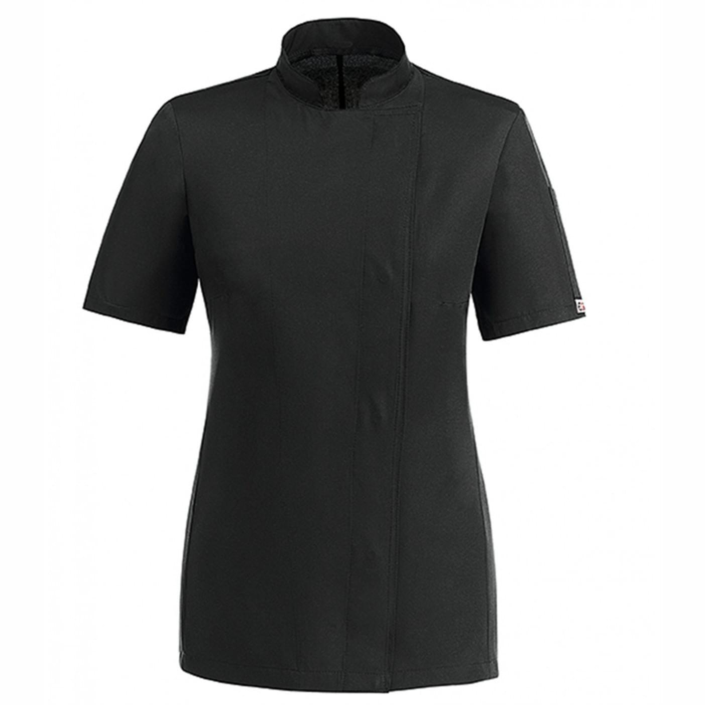 γυναικεία μπλούζα μάγειρα μάυρη egochef microfiber