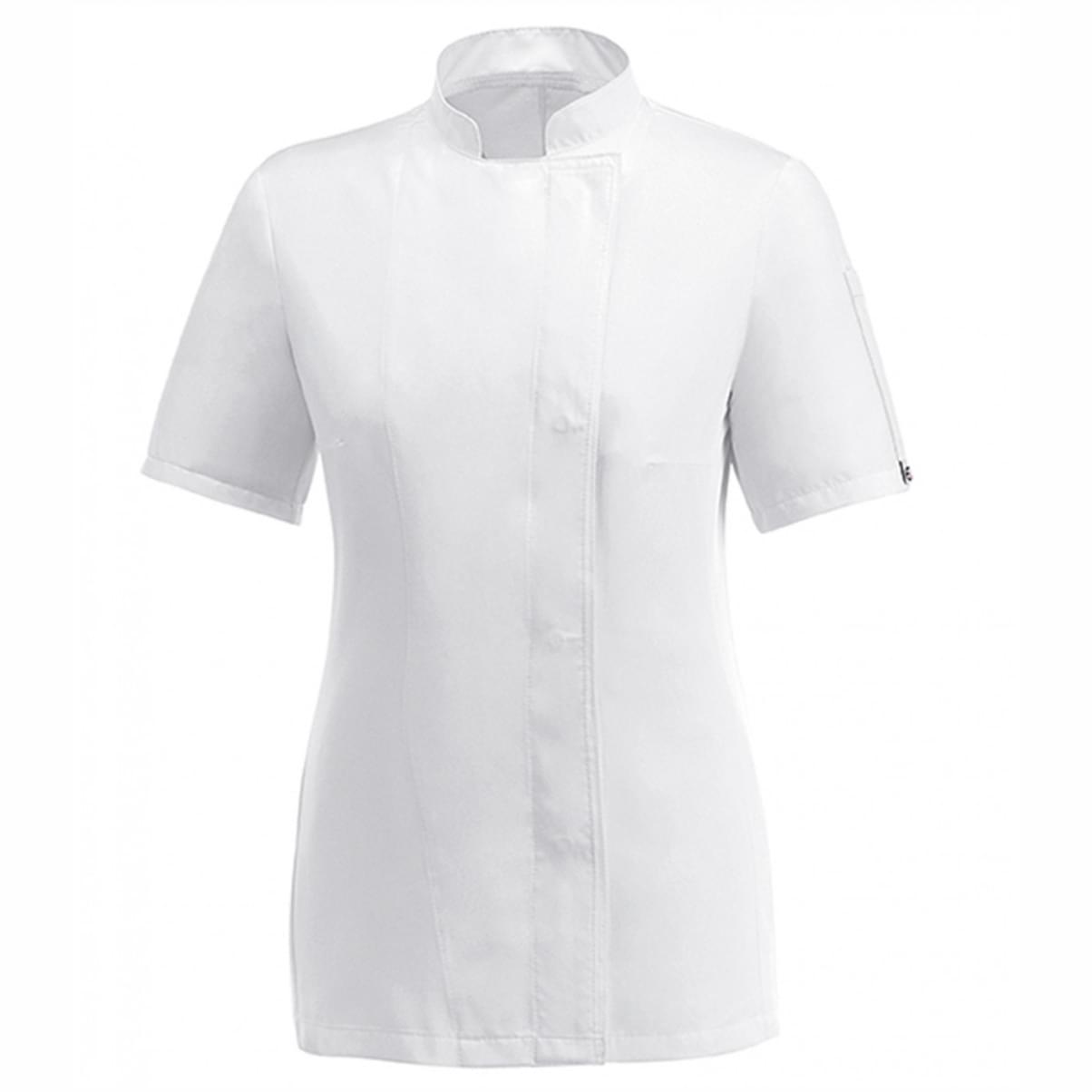 γυναικεία μπλούζα μάγειρα λευκή egochef microfiber