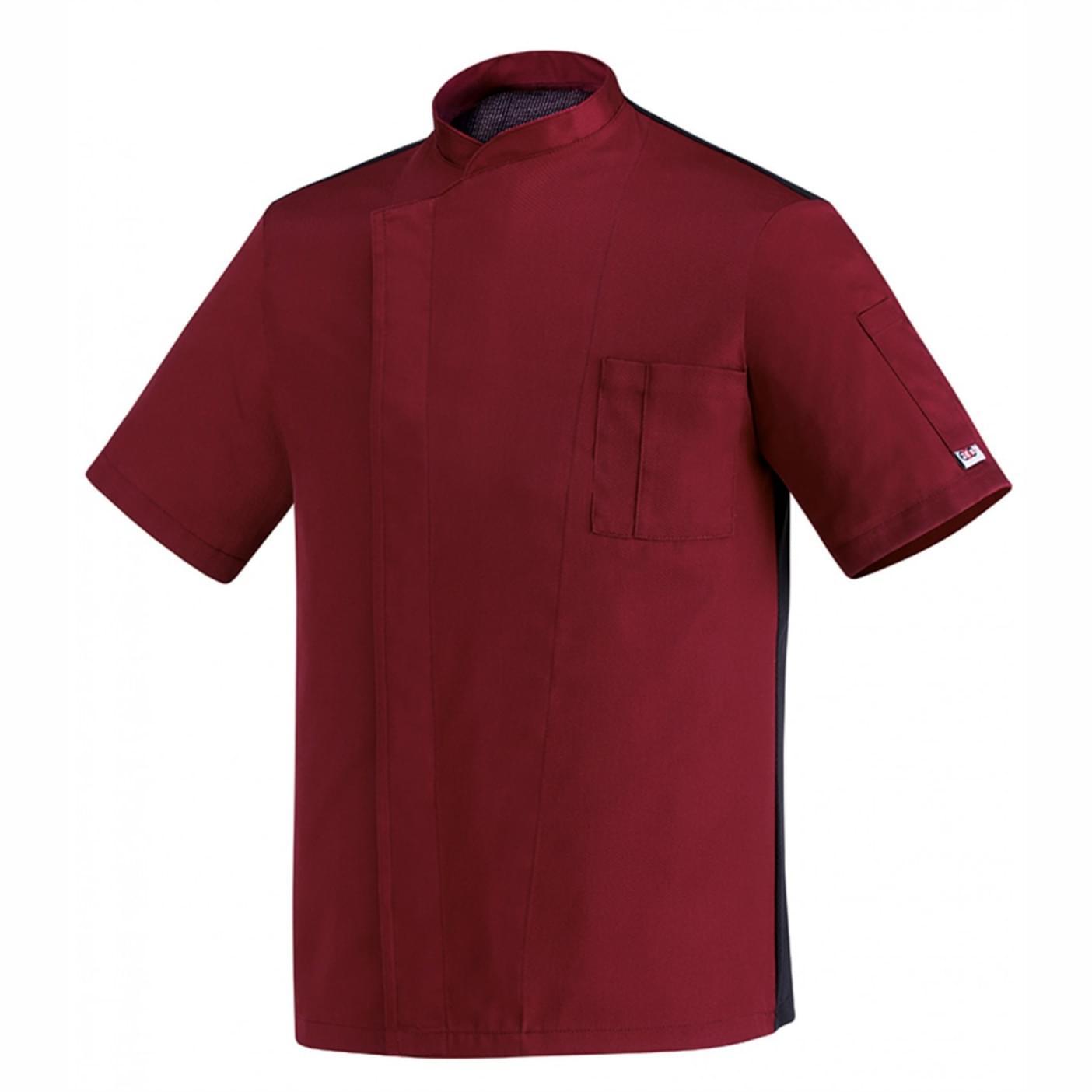 μπλούζα μάγειρα μπορντώ egochef microfiber