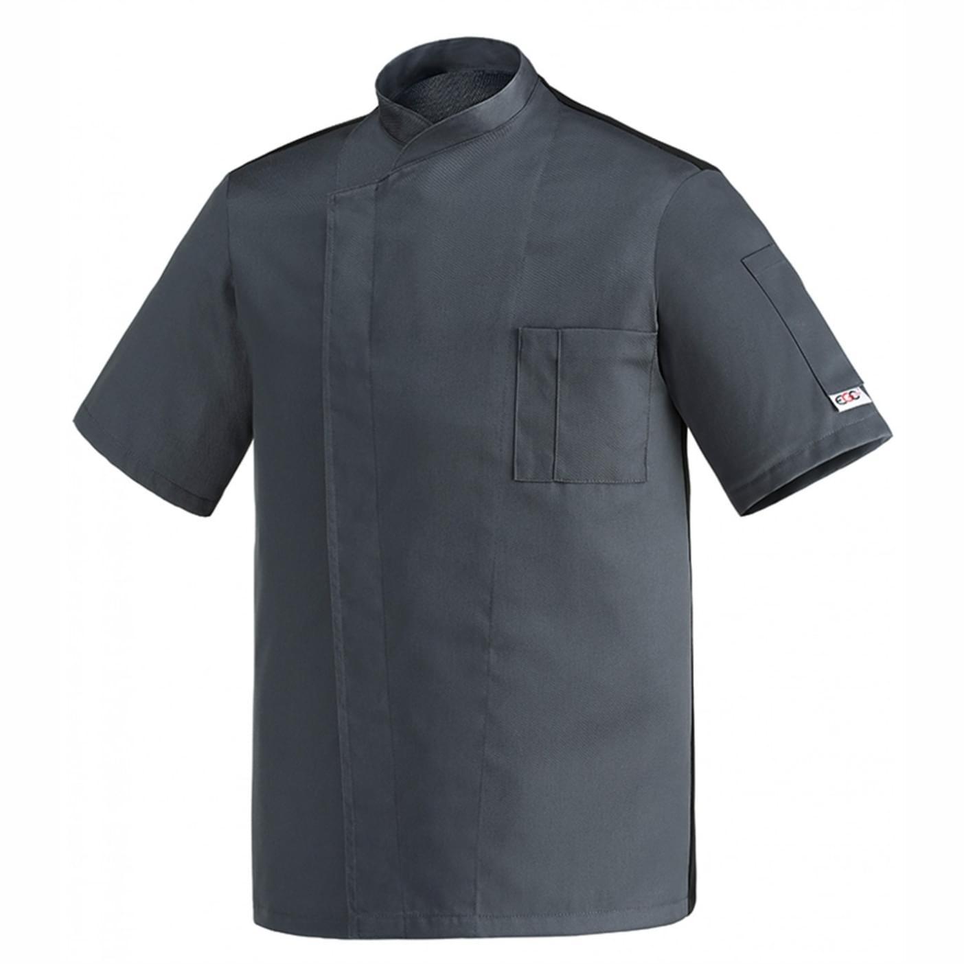 μπλούζα μάγειρα γκρι egochef microfiber